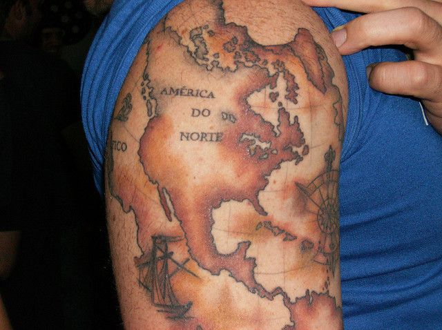 Old world map tattoo obsessed with maps pinterest old world map tattoo gumiabroncs Choice Image