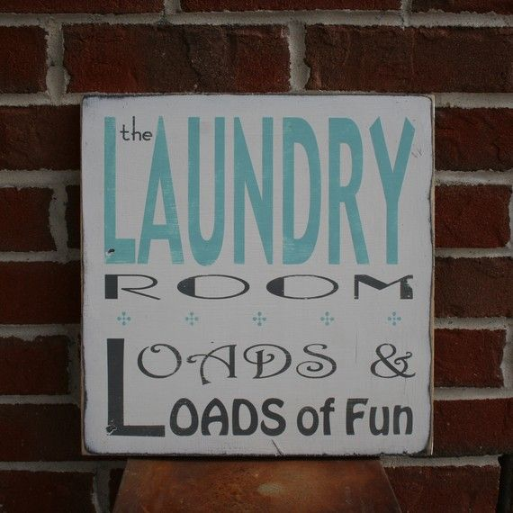 I'm thinking about sprucing up my little laundry room so it won't seem so bad :)  Sign by @Kristi quill {bop}