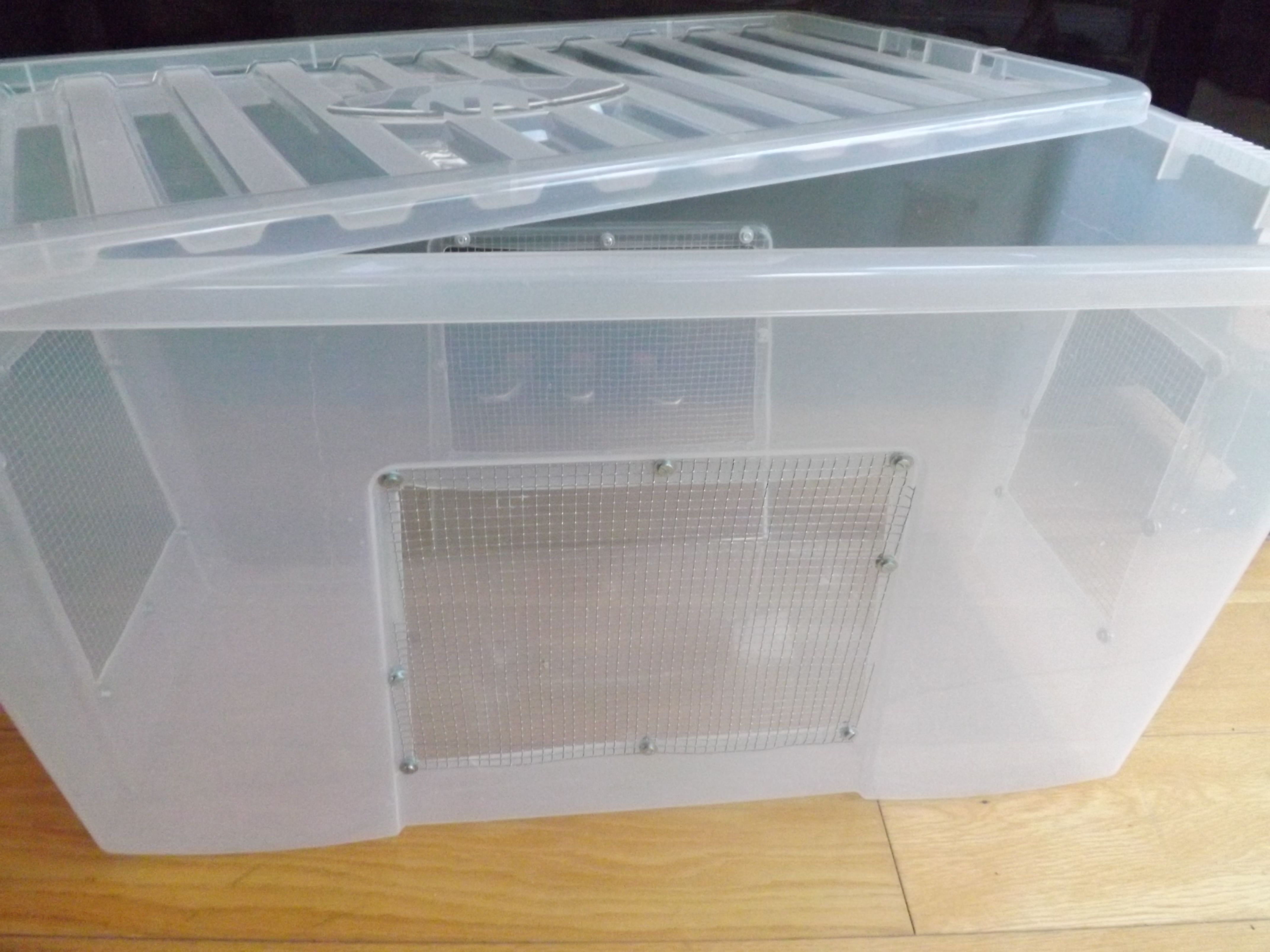 How To Make A Bin Cage Mouse Cage Animal Room Plastic Box Storage