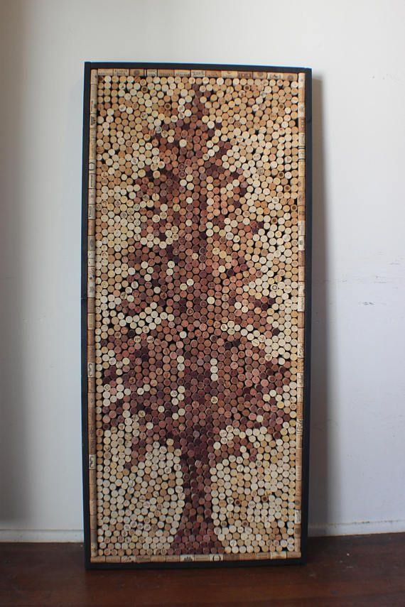wall art made out of corks in the shape of a western hemlock tree
