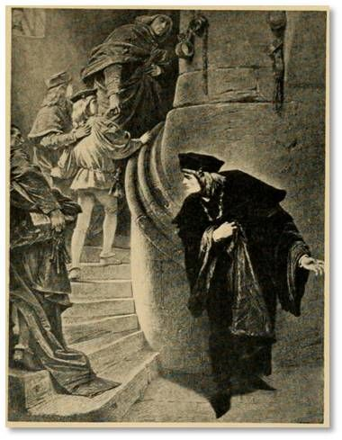 """Margaret curses Rivers, Grey and Vaughan and orders them to be executed because they all stood by and watched as Richard murdered her son Edward in battle. """"Now Margaret's curse is fall'n upon our heads, / When she exclaimed on Hastings, you, and I, / For standing by when Richard stabbed her son"""" (3.3.14-16). Grey and many of the other characters realizes that Margaret's curses are coming true in this scene."""