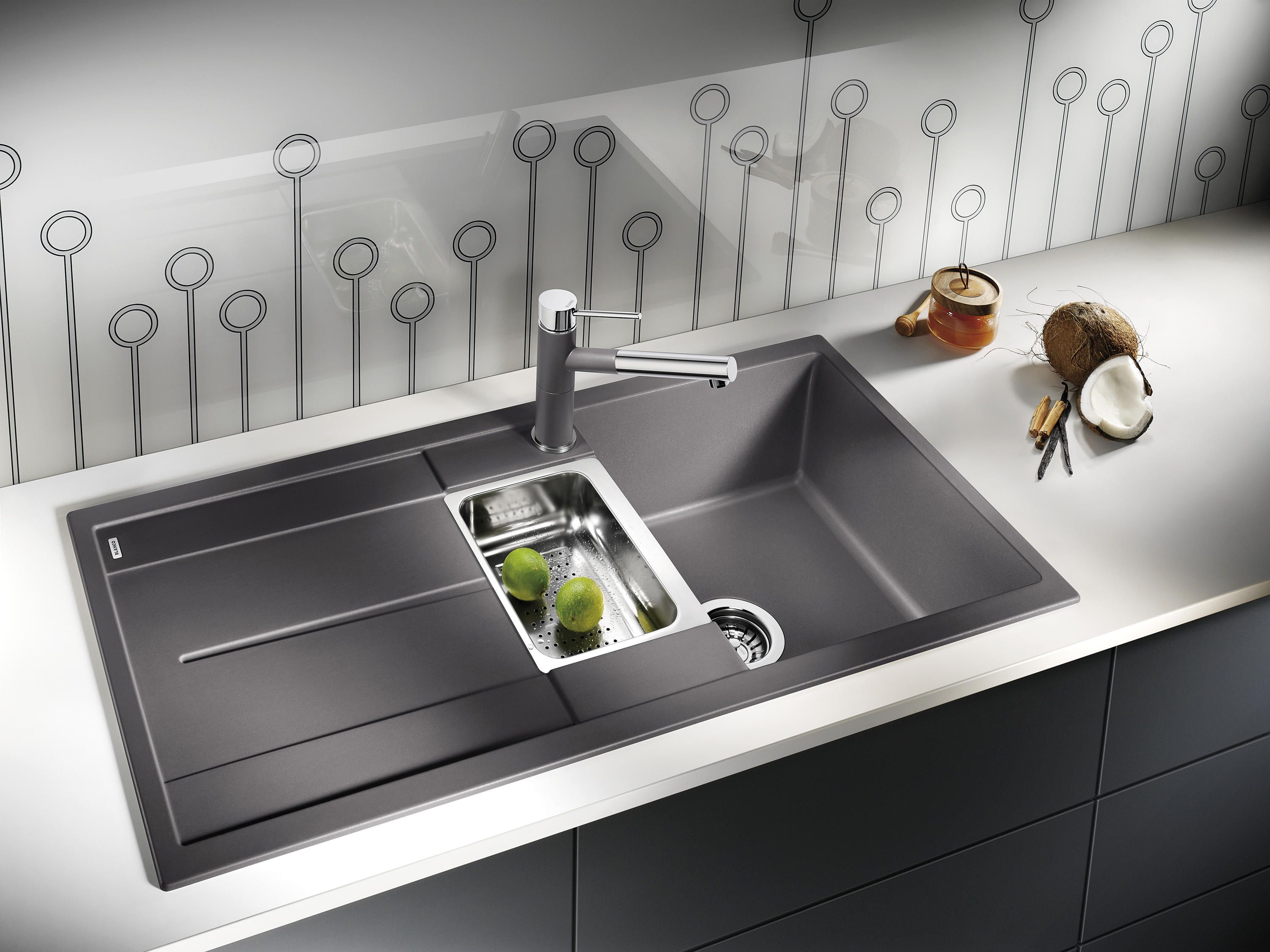 Blanco Metra 6 Silgranit Pearl Grey By Blanco Kitchen Fittings Modern Kitchen Kitchen Styling