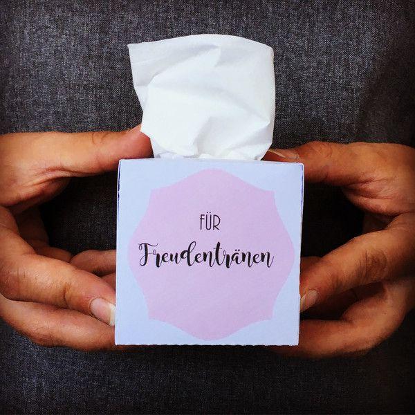 Gastgeschenke Taschentuch Box Hochzeit personalisiert ein