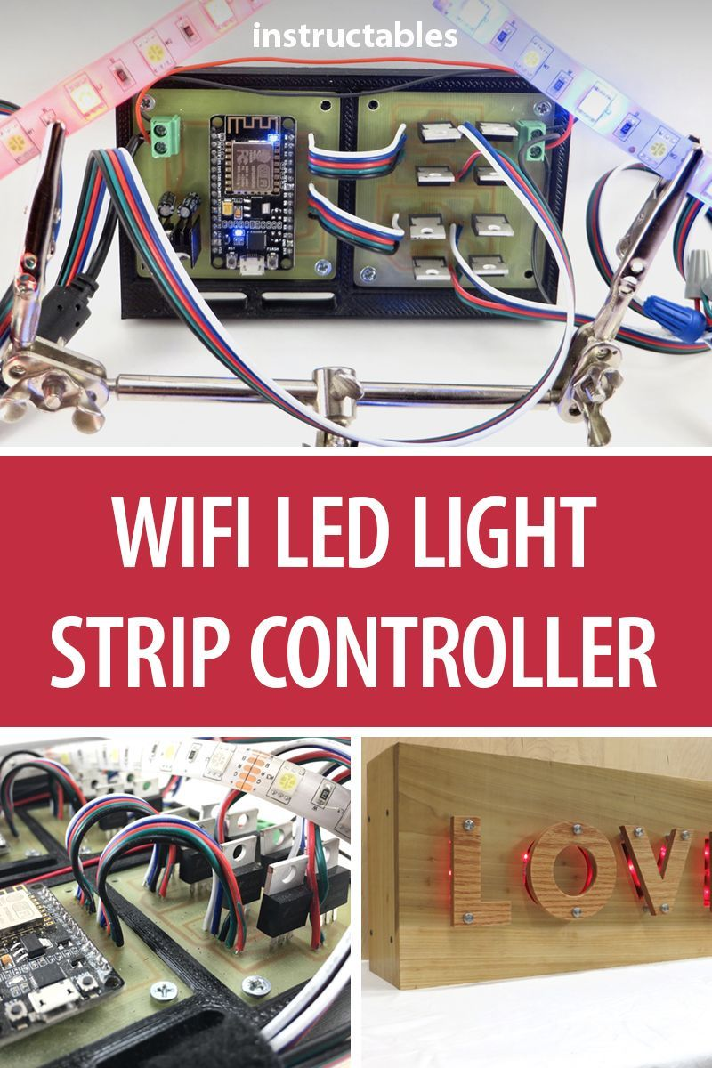 WiFi LED Light Strip Controller | LEDs | Arduino, Electronics