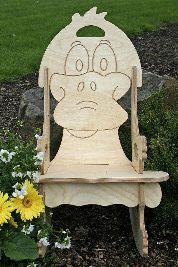 Pleasant Darn Cute Duck Puzzle Rocking Chair Free Name By Uwap Interior Chair Design Uwaporg