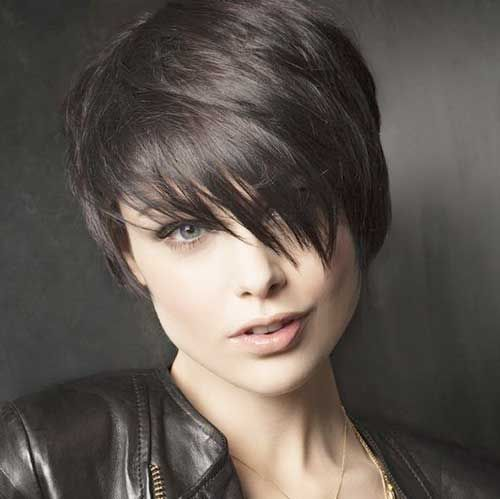 dark colored punk short hair