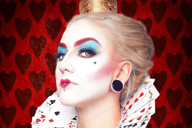 Queen Of Hearts Inspired Makeup Alice In Wonderland Alice In Wonderland Makeup Wonderland Makeup Queen Of Hearts Makeup