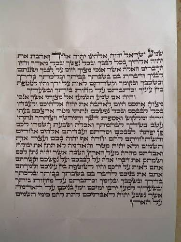 picture about Mezuzah Scroll Printable called Pin upon Aid Inside of Prayer