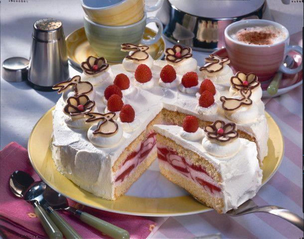 Feine Himbeer-Joghurt-Torte Rezept | Backen | Food ...