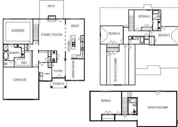Single Story Open Concept Floor Plan With 2 Bonus Rooms