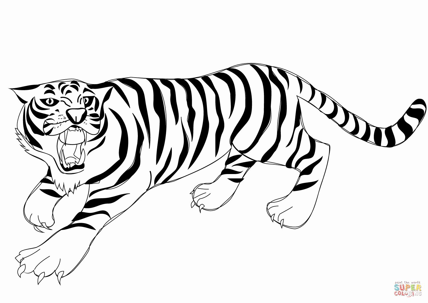Coloring Pages Of Tigers Awesome Easy Tiger Coloring Pages In 2020 Tiger Pictures Coloring Pages Animal Coloring Pages
