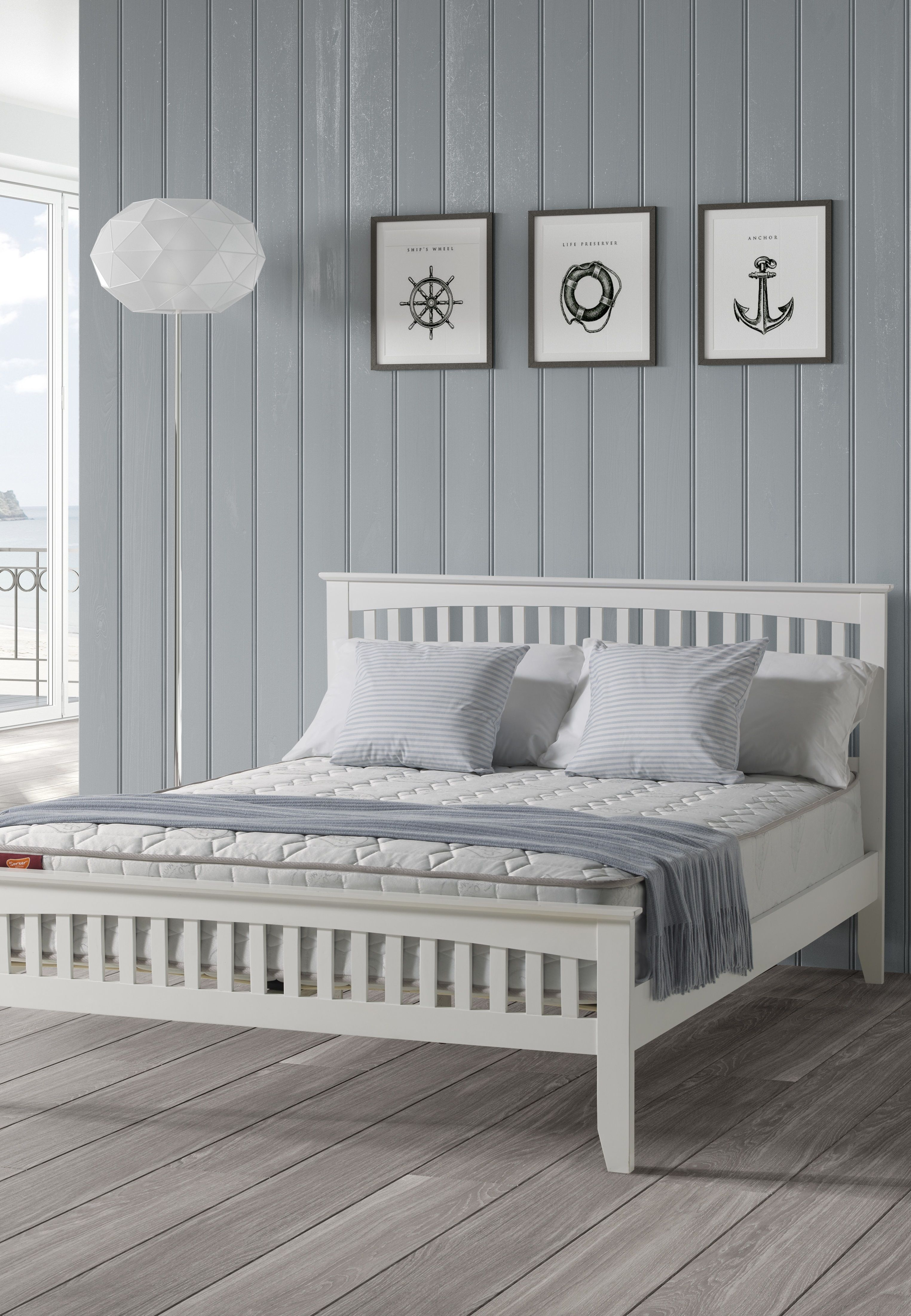 Three Posts Alyn Bed Frame Wayfair Co Uk White Wooden Bed White Bed Frame Wooden Bed