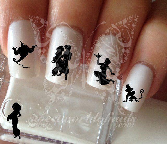 Aladdin Nail Art Nail Water Decals | nails | Pinterest | Diseños de ...