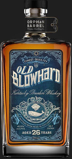 Orphanbarrel.com-Blowhard alcohol label. This would be a good gag gift. Click on link. http://www.orphanbarrel.com/#old-blowhard