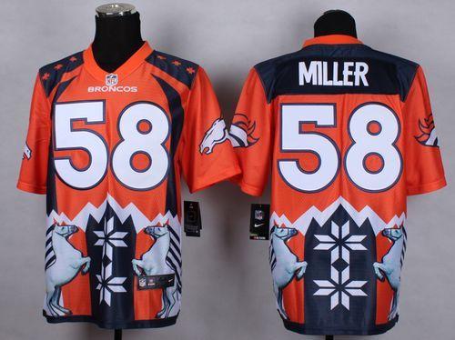Sam Bradford jersey Nike Broncos  58 Von Miller Orange Men s Stitched NFL  Elite Noble Fashion Jersey Browns DeShone Kizer jersey Ravens Terrell Suggs  55 ... e070d5ecd