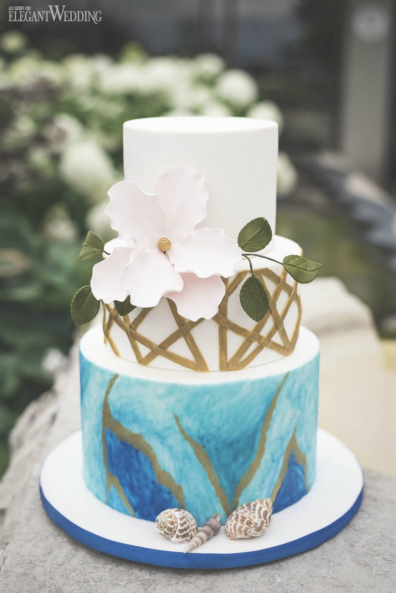 seaside wedding cakes watercolour wedding ideas my addiction 19717