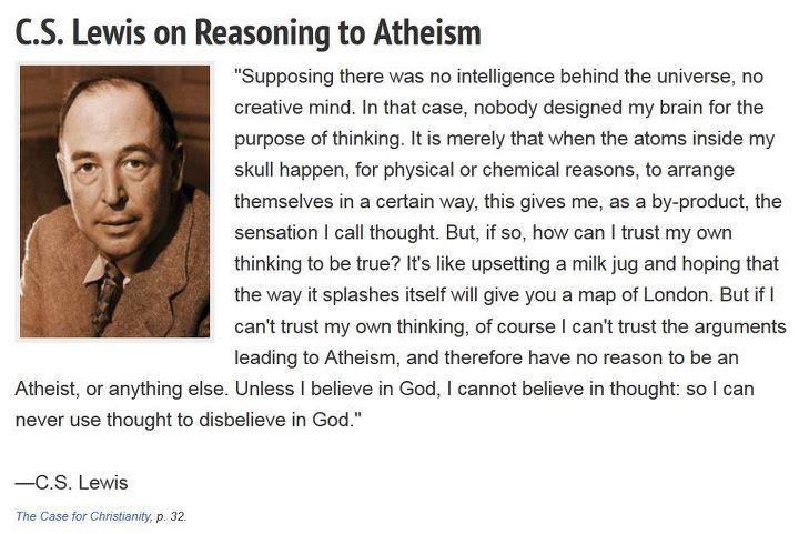 C.S. Lewis on Reasoning to Atheism