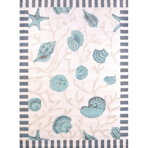 United Weavers Of America Regional Concepts Shells Rug By Blue Perfect For Your Coastal Or Beach Home