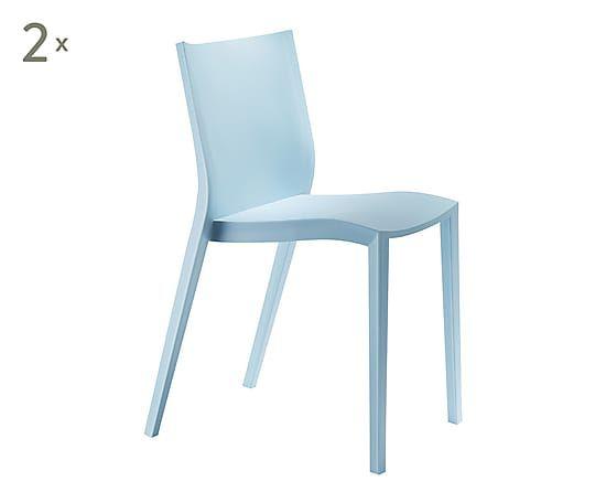 Set di sedie in polipropilene blu slick slick cm