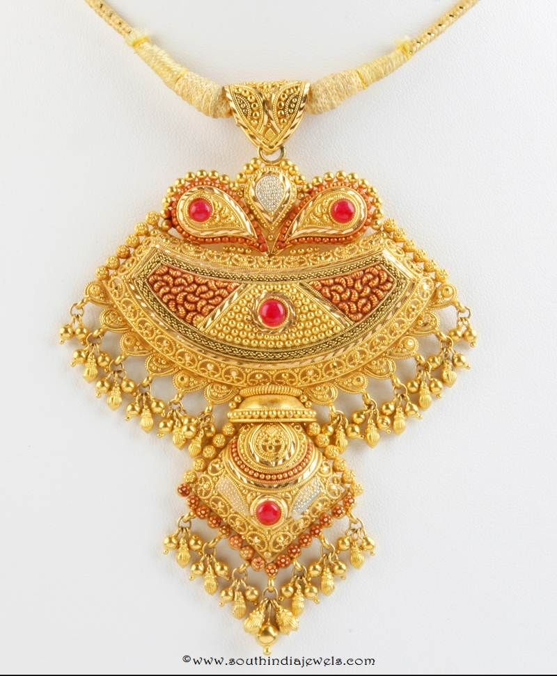 Gold Pendant Design from Senthil Murugan Jewellery | Gold pendant ...