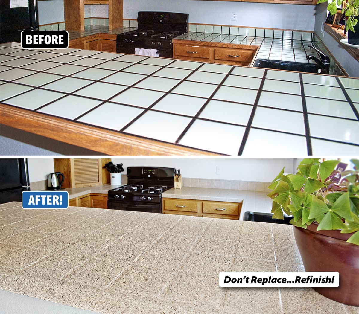 Tile Countertops Can Be Very Difficult To Clean Food Particles