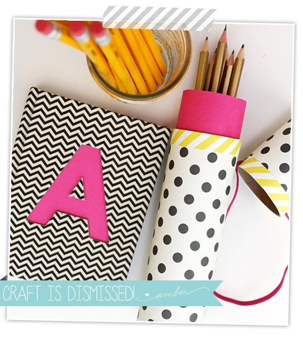 How to Make a Mail Tube Pencil Case - damask love