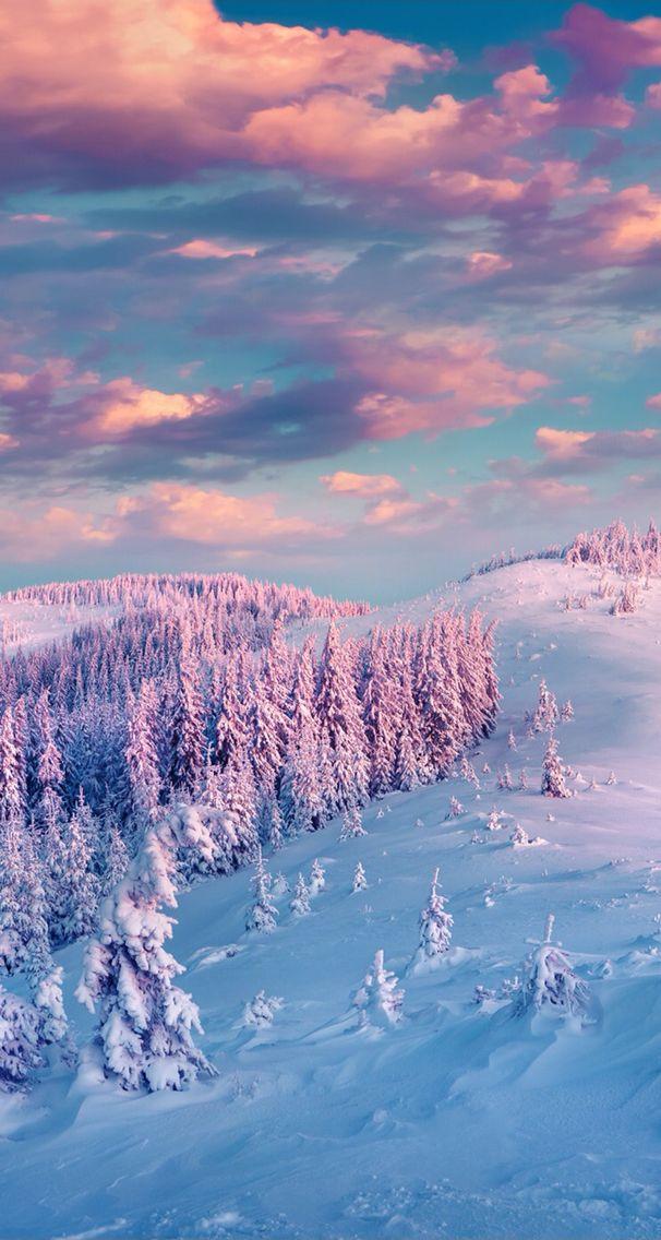 iPhone wallpaper Winter wallpaper, Winter landscape