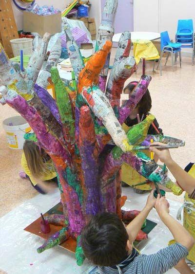Baobab de Noël en papier maché, Activité manuelle et bricolage