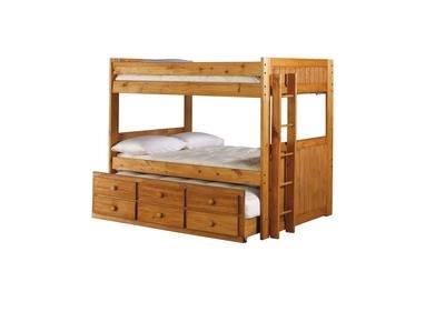 badcock - madison collection twin over twin bunk bed | boys room
