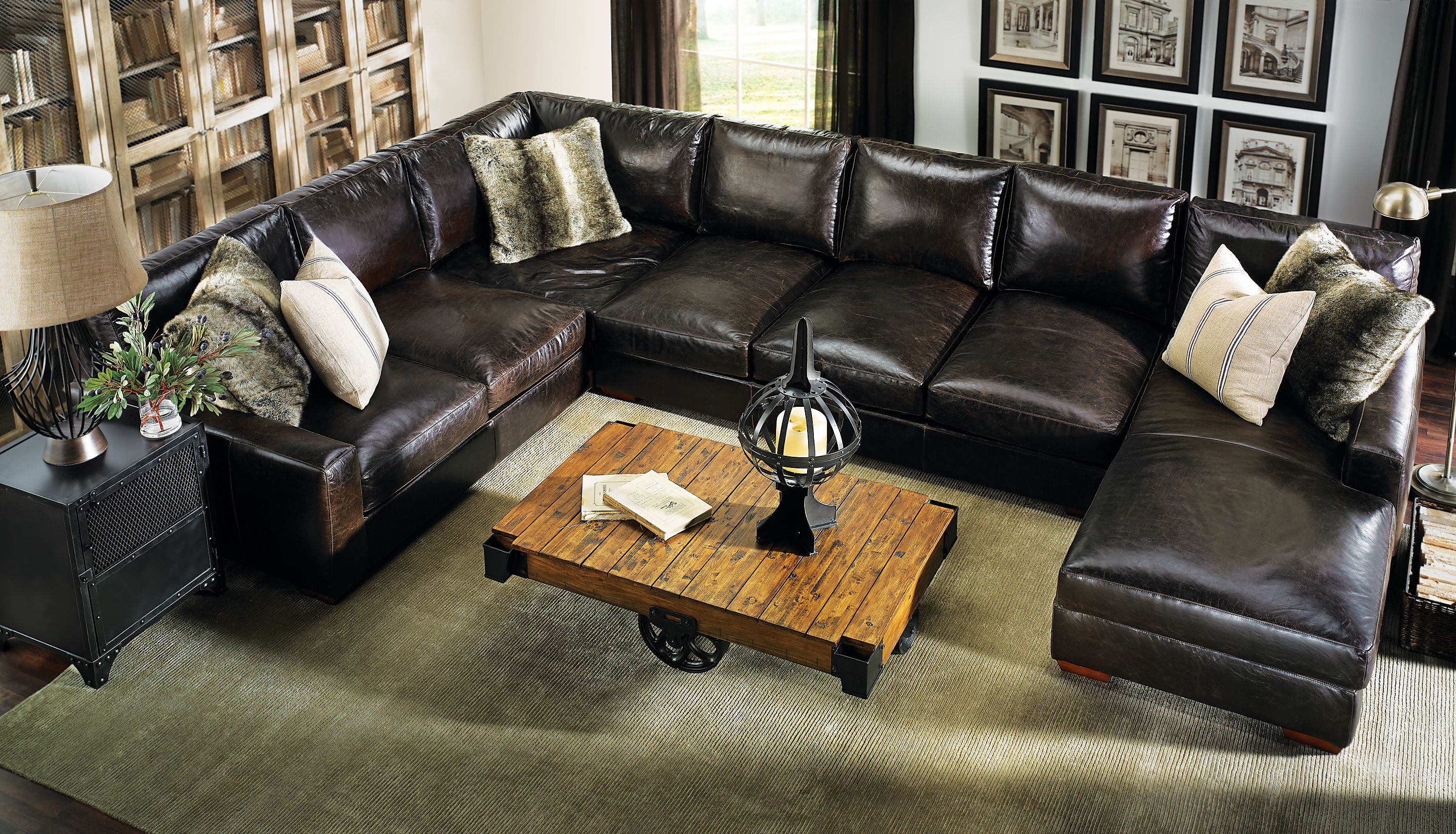 Astounding Howard Sectional Sofa Leather Everyonewillfit Furniture Pdpeps Interior Chair Design Pdpepsorg