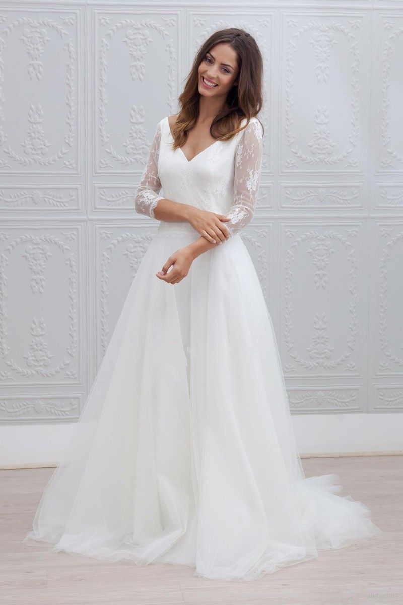 Click to buy ucuc vestido de noiva vintage boho wedding dresses