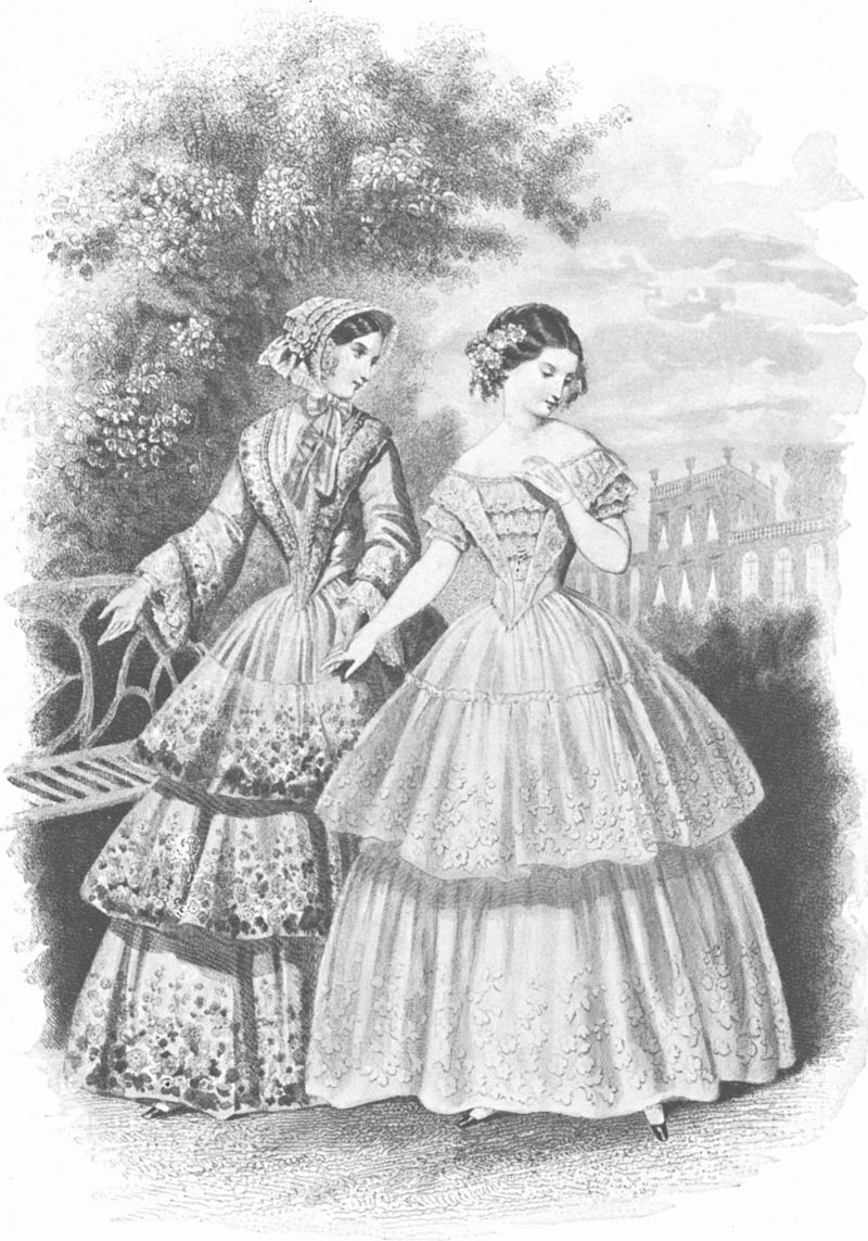 Lesmode Parisiennes1851 1850s In Western Fashion Wikipedia Victorian Costume Western Fashion 1850s Fashion