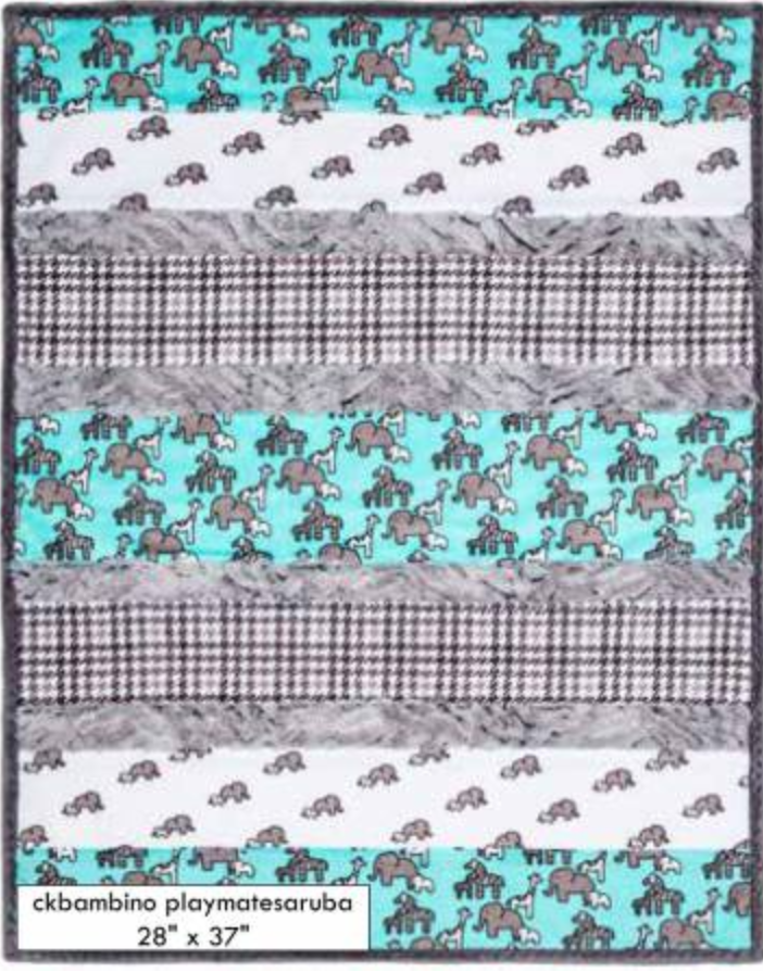 Minky Cuddle Bambino Playmate Aruba Quilt Kit Gray And Teal Quilt Kit Baby Quilt Kit Quilts