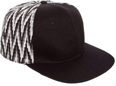 8d54e554c0c ASOS - White Snap Back Cap with Pattern Back Panels for Men - Lyst