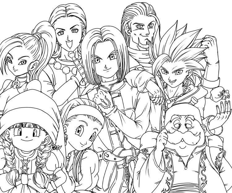 Twitter Dragon Quest Dragon Dbz Drawings