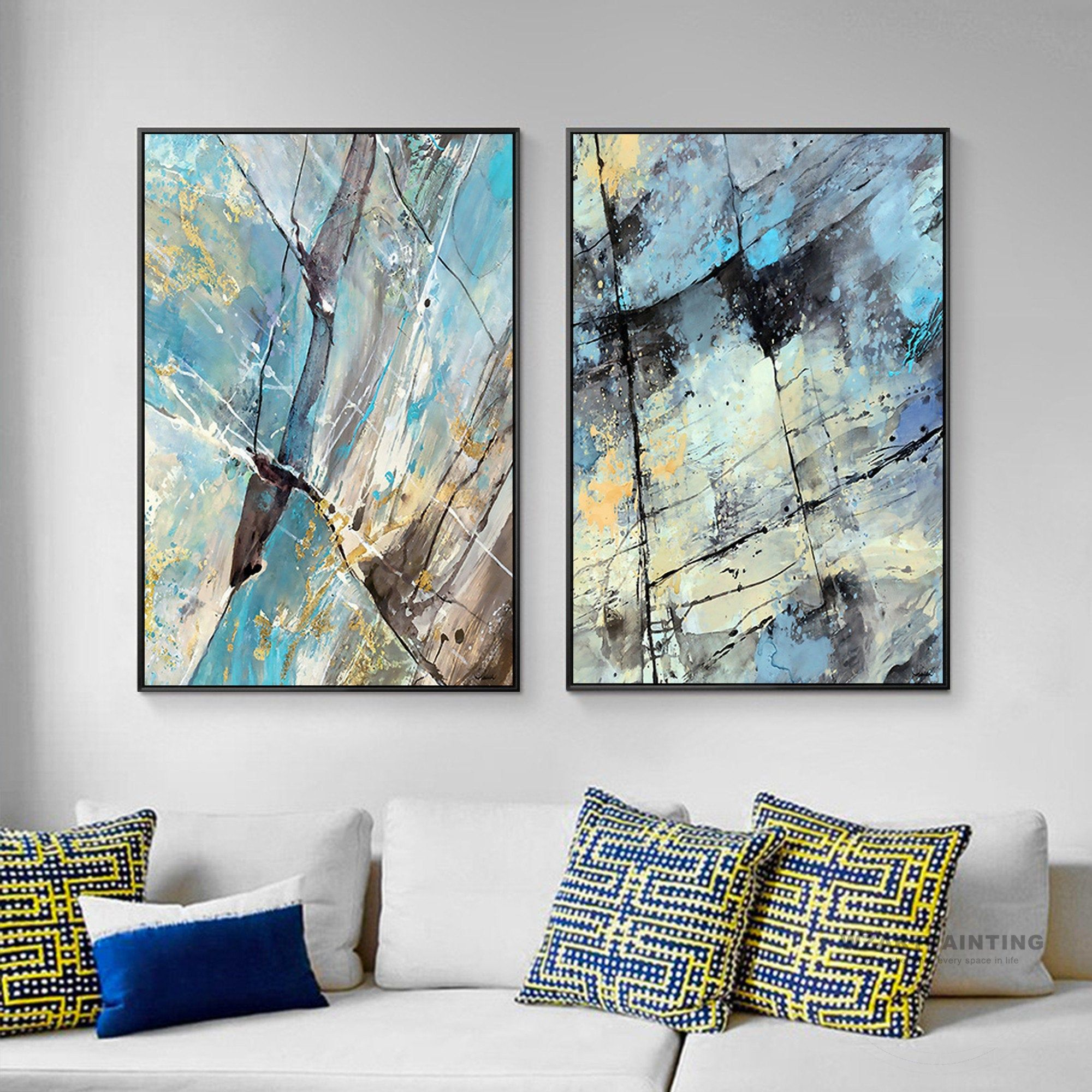 Framed Wall Art Set Of 2 Prints Abstract Navy Blue Black Print Painting Wall Art Pictures On Canvas Large Wall Wall Art Pictures Framed Wall Art Sets Abstract