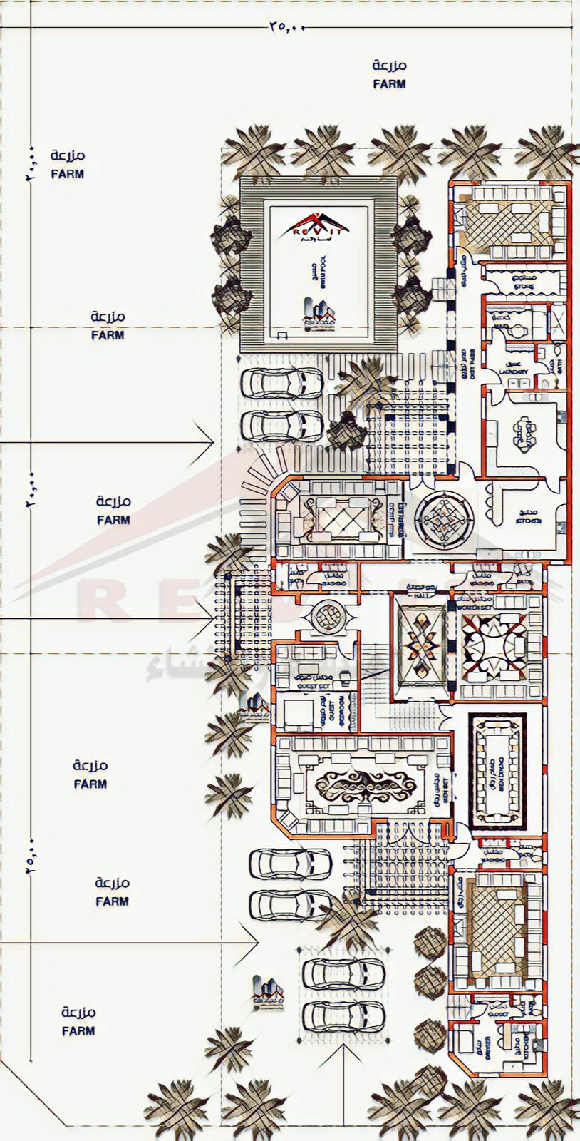 تصميم لفيلا سكنيه تصميم شاليه تصميم مميز Arabian Villa Design للتواصل لجميع عمل التصميمات Egyrevit تويتر New House Plans Circle House House Plans