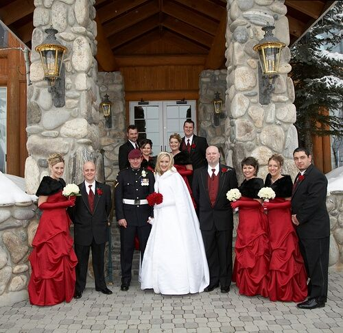 Red Black Winter Wedding Ideas For Brides Grooms