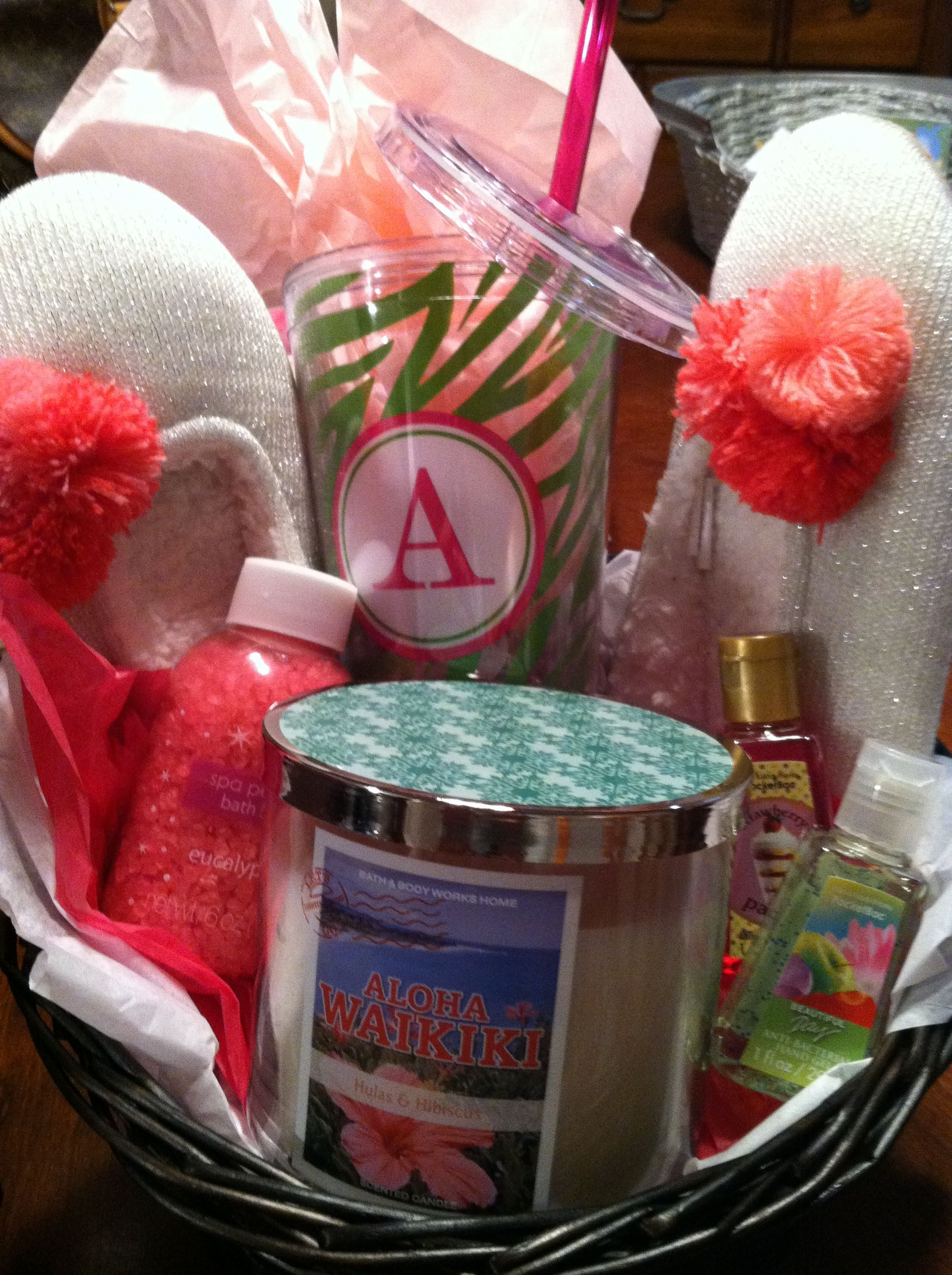 A Thank You Basket For A Baby Shower My Girlfriend Threw For Me