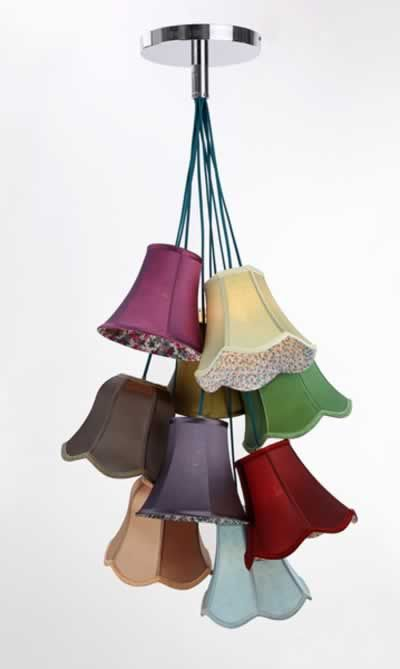 Wonderful Traditional Lampshade Cluster Light   Nine Lamp Shade Ideas