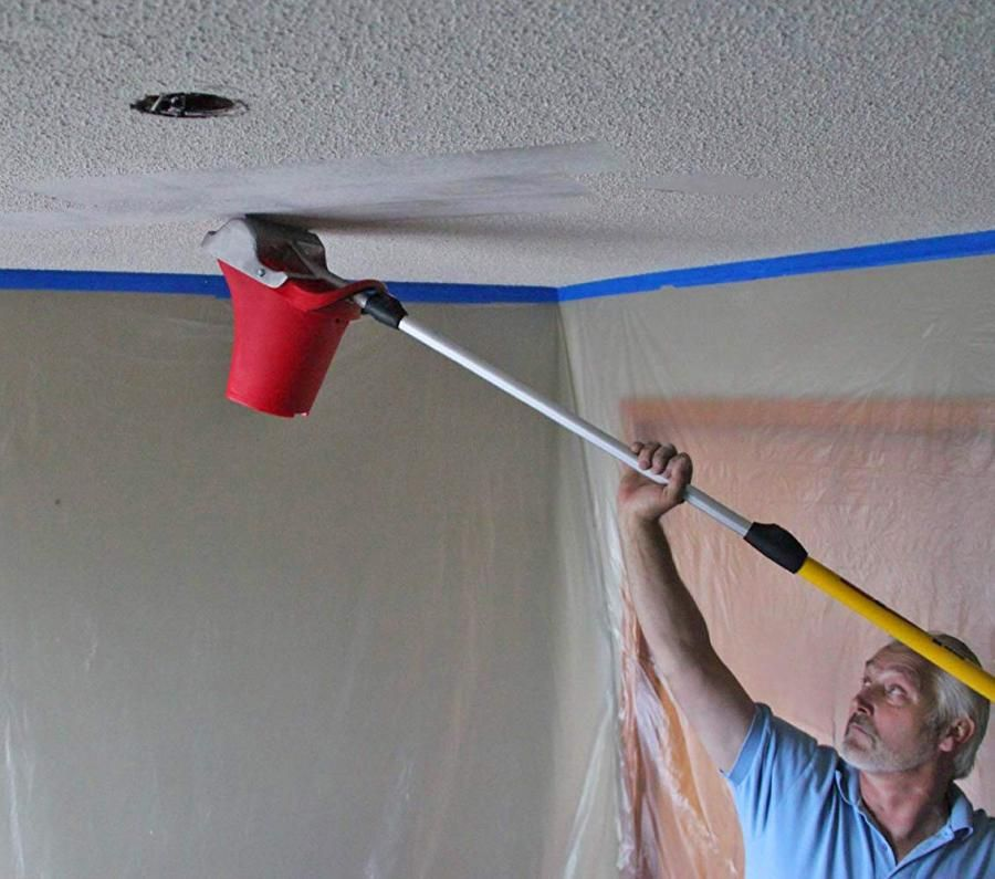 Texture Terminator Easy Popcorn Ceiling Remover Popcorn Ceiling Makeover Popcorn Ceiling Removing Popcorn Ceiling Easy
