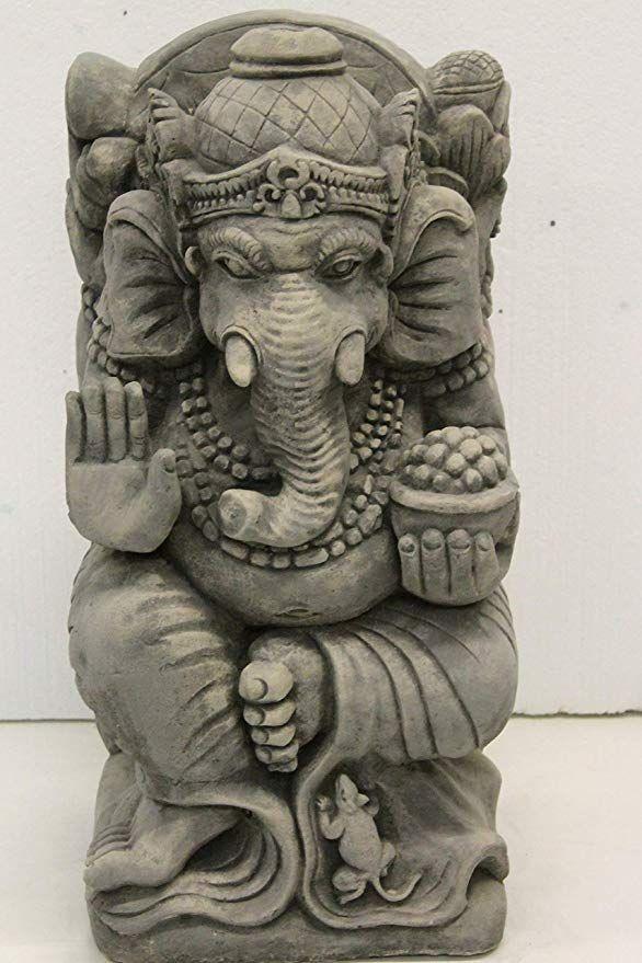 Ornate Stone Ganesh Statue Garden Ornament Amazon Co Uk 640 x 480