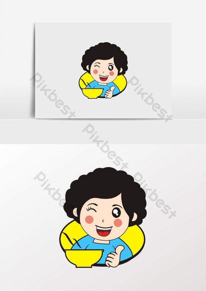 การ ต นแม และป าจ ดเล ยงโลโก อาหารจ น องค ประกอบกราฟฟ ก แบบ Cdr ดาวน โหลดฟร Pikbest Logo Food Cartoon Mom Food Logo Design