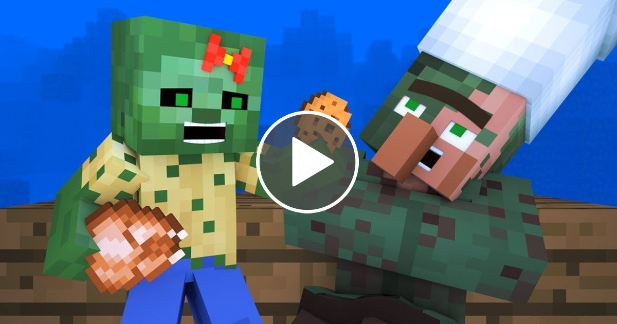 Zombie vs Villager Life 6 - Alien Being Minecraft Animation | Gaming