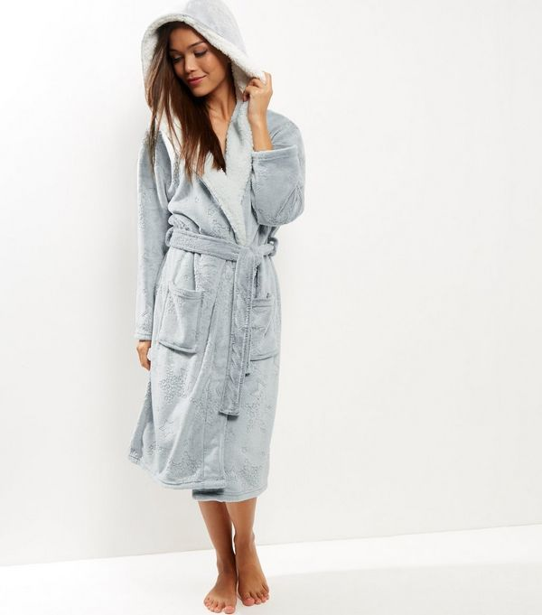 Grey Burnout Star Borg Lined Dressing Gown | Gowns, Star and Grey