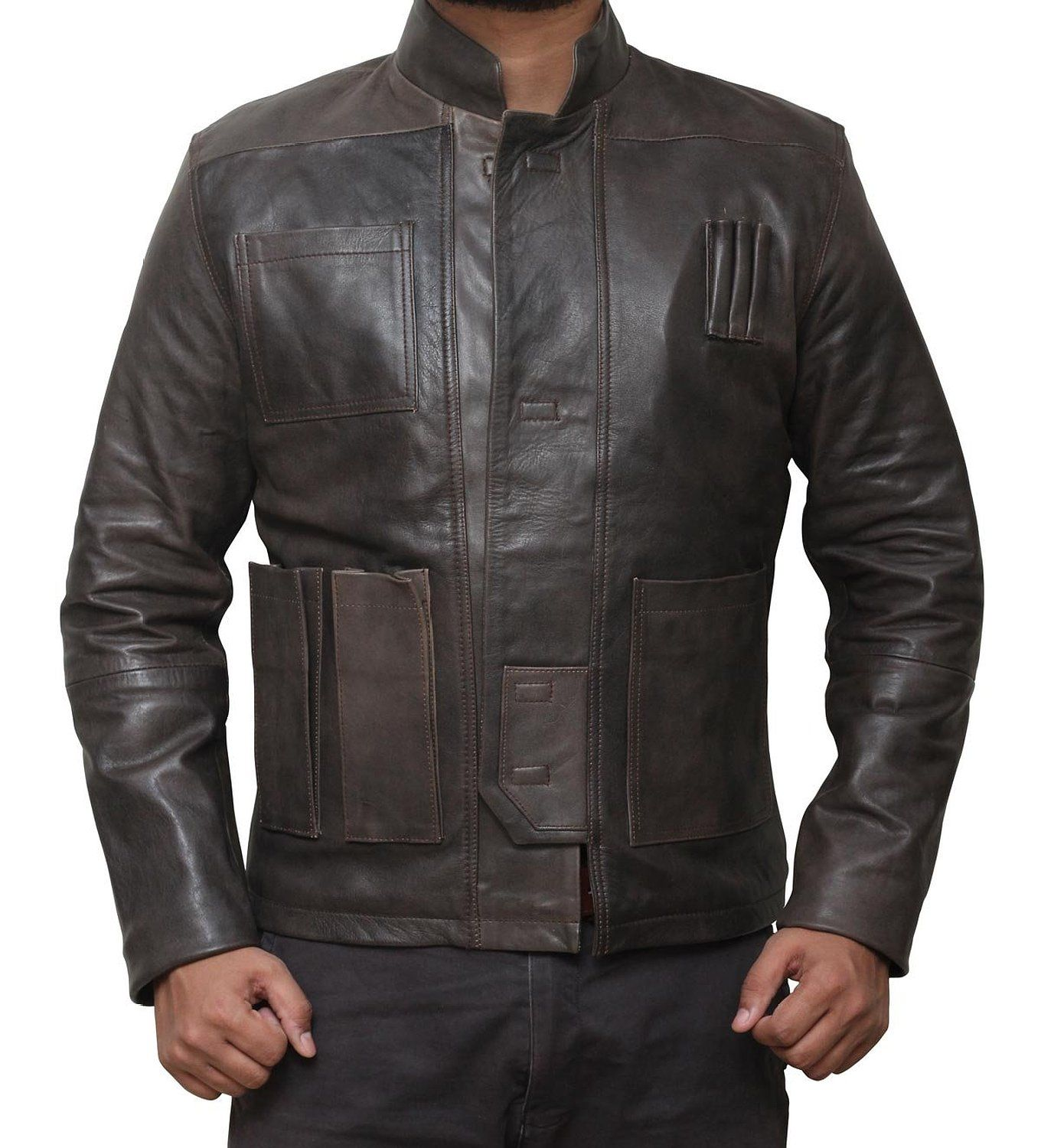 Han Solo Leather Jacket Best Star Wars Collection [ 1500 x 1360 Pixel ]