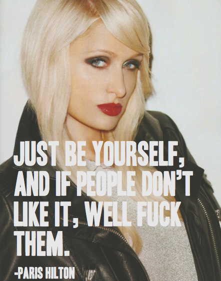 Don\'t like her but, the quote is definitely on point ...