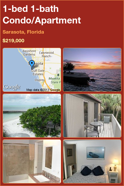 1-bed 1-bath Condo/Apartment in Sarasota, Florida ►$219,000 #PropertyForSale #RealEstate #Florida http://florida-magic.com/properties/3932-condo-apartment-for-sale-in-sarasota-florida-with-1-bedroom-1-bathroom