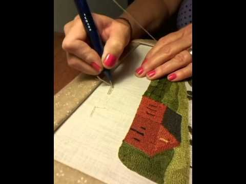 my latest punch needle video ... punch needle tips and tricks - YouTube #punchneedle #punchneedleembroidery #DMCthreads