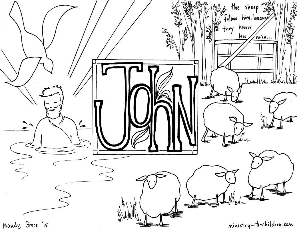 John Bible Book Coloring Page Bible Coloring Pages Bible
